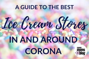 corona ice cream banner size