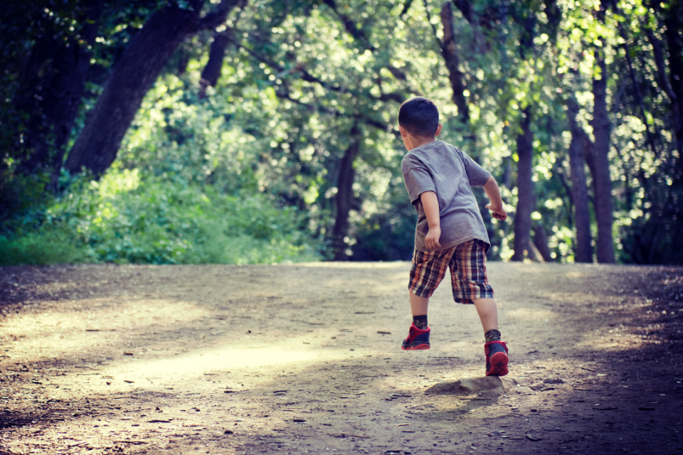 Little boy running away my journey as a mom with ADHD