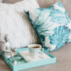 tea and decorative pillows on a couch   get healthy with life back medical