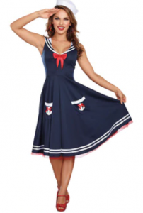 3 wishes ALL ABOARD SAILOR COSTUME