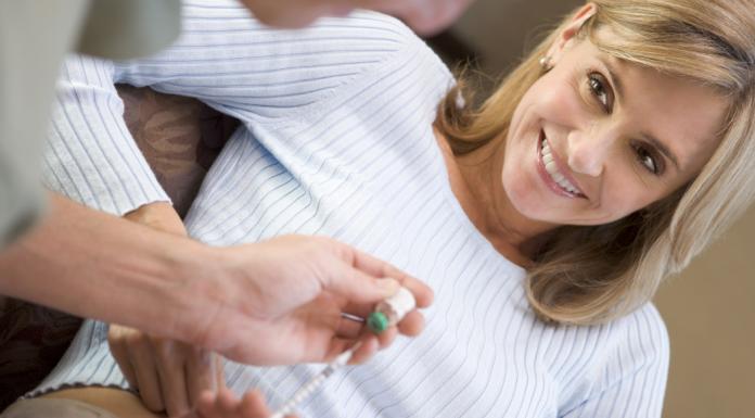 woman undergoing fertility treatments